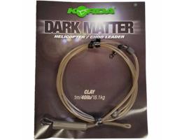 Карповый монтаж KORDA Dark Matter Leader Heli 40 lb 1м Clay KSZ47