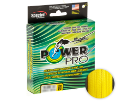 Плетеный шнур Power Pro Hi-vis Yellow 92м. 0.08мм.