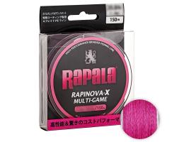 Плетеный шнур Rapala Rapinova-x MULTI GAME 150м. 0.8PE PINK