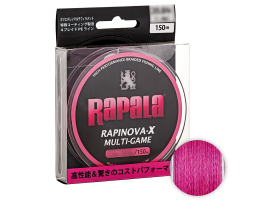 Плетеный шнур Rapala Rapinova-x MULTI GAME 150м. 1.5PE PINK