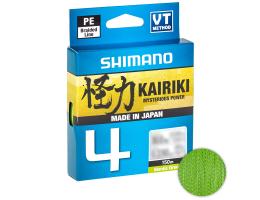 Плетеный шнур Shimano Kairiki X4 150м. 0.06мм. GREEN