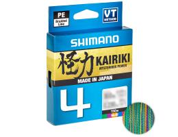 Плетеный шнур Shimano Kairiki X4 150м. 0.06мм. MULTICOLOR
