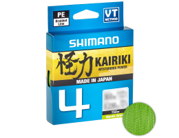 Плетеный шнур Shimano Kairiki X4 150м. 0.13мм. GREEN