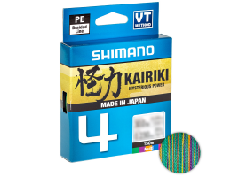 Плетеный шнур Shimano Kairiki X4 150м. 0.13мм. MULTICOLOR