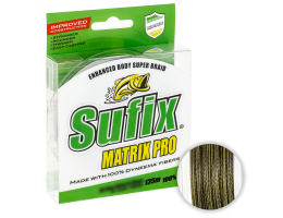 Плетеный шнур Sufix Matrix Pro Wax Shield 135м. 0.12мм. MIDNIGHT GREEN