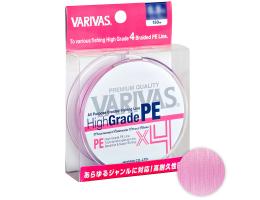 Плетеный шнур Varivas High Grade X4 150м. 0.128мм. MILKY PINK