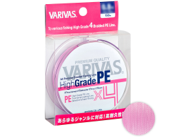 Плетеный шнур Varivas High Grade PE x4 150м. 0.185мм. MILKY PINK