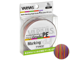 Плетеный шнур Varivas High Grade X4 150м. 0.165мм.  MARKING TYPE II