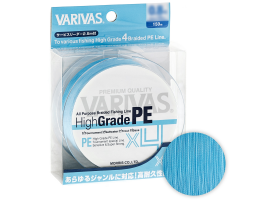 Плетеный шнур Varivas High Grade  PE X4 150м. 2.0 WATER BLUE