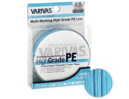 Плетеный шнур Varivas High Grade PE x4 150м. 0.185мм. WATER BLUE