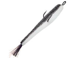 Поролоновые рыбки Контакт Двойник 8см бело-черная (открытый двойник)