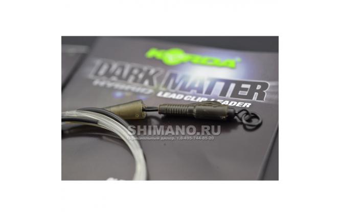 Карповый монтаж KORDA Dark Matter Leader Heli 40 lb 1м Gravel KSZ46 фото №10