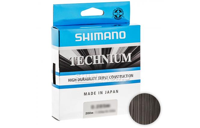 Леска SHIMANO TECHNIUM 200м. 0.22мм. BLACK фото №1