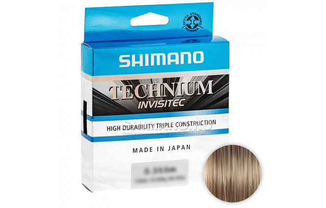 Леска SHIMANO TECHNIUM INVISITEC 150м. 0.225мм. GRAY фото №1
