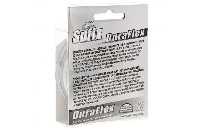 Леска Sufix Duraflex 150м. 0.18мм. CLEAR фото №2