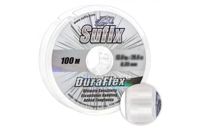 Леска Sufix Duraflex 100м. 0.14мм. CLEAR фото №1