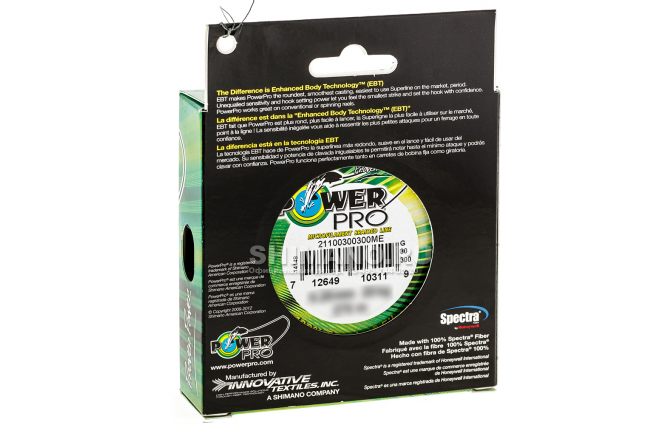Плетеный шнур Power Pro Moss Green 135м. 0.23мм. фото №2