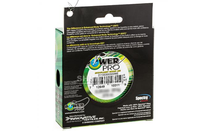 Плетеный шнур Power Pro Moss Green 275м. 0.43мм. фото №2