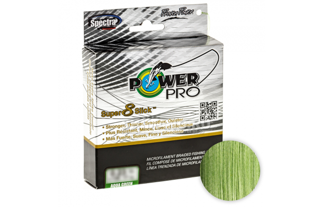 Плетеный шнур POWER PRO SUPER 8 SLICK 135м. 0.28мм. AQUA GREEN фото №1