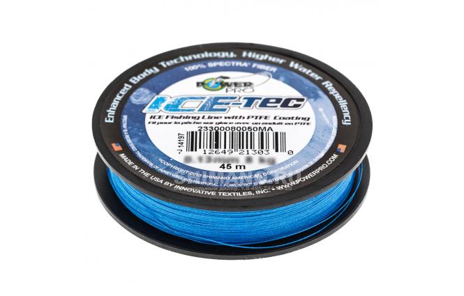 Зимний шнур POWER PRO ICE TEC 45м. 0.10мм. BLUE фото №2