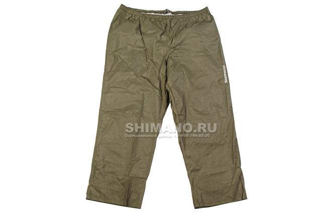 Брюки SHIMANO DS BASIC BIB 2XL хаки/красные фото №1