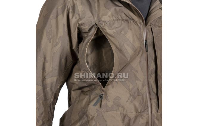 Костюм Shimano Rb-017t Gore-tex EU-L/ JP-LL Коричневый камуфляж фото №6