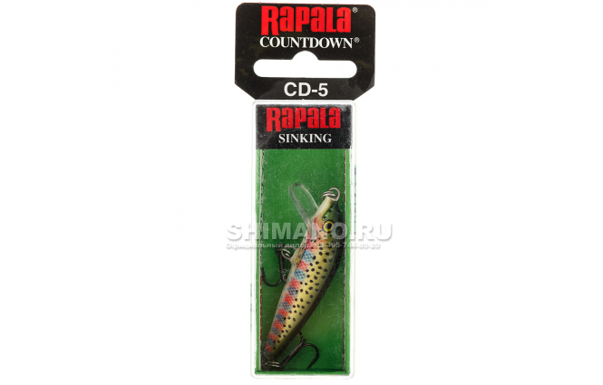 Воблер RAPALA COUNTDOWN CD07-RT фото №2