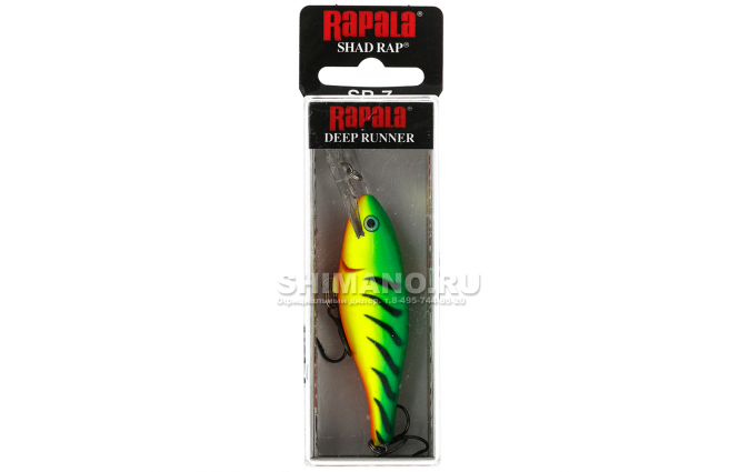 Воблер RAPALA SHAD RAP SR08-FT фото №2