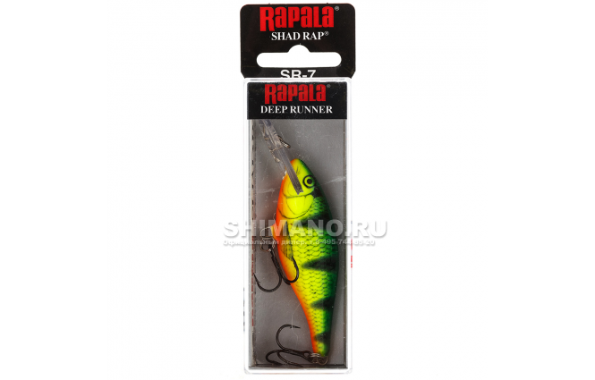 Воблер RAPALA SHAD RAP SR09-FP фото №2