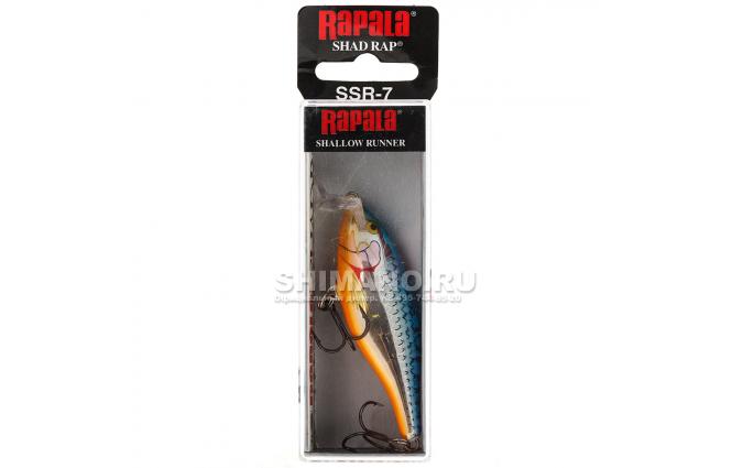 Воблер RAPALA SHALLOW SHAD RAP SSR07-SB фото №2