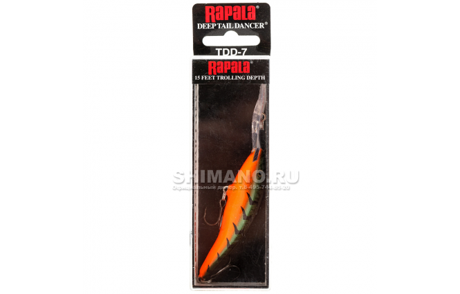 Воблер Rapala Tail Dancer Deep TDD13-RDT фото №2