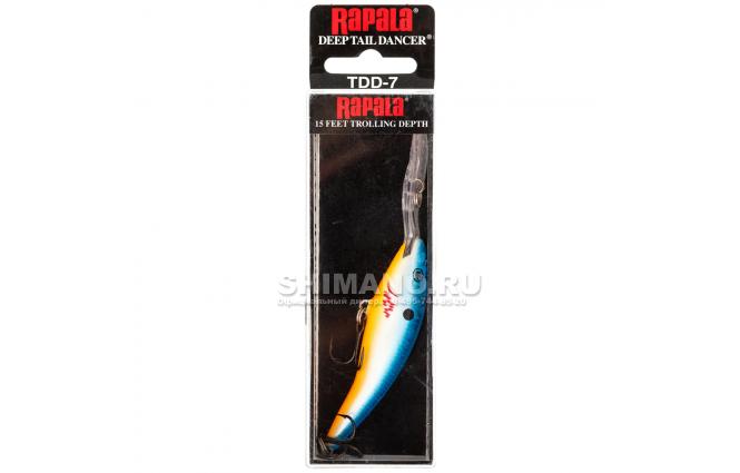 Воблер Rapala Tail Dancer Deep TDD07-OBFL фото №2