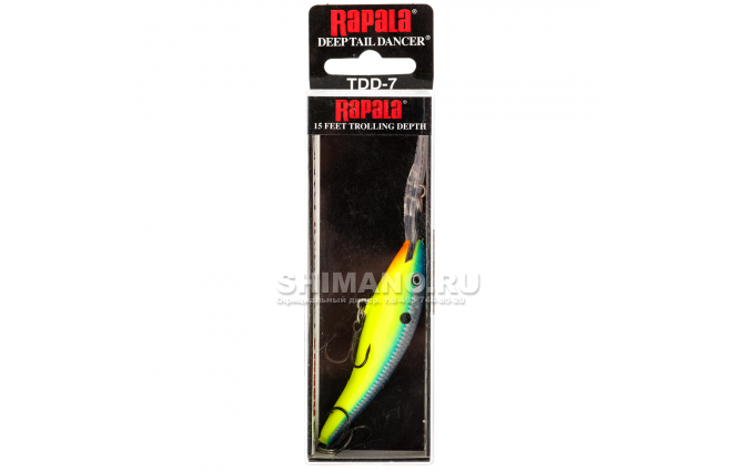 Воблер Rapala Tail Dancer Deep TDD07-PRT фото №2