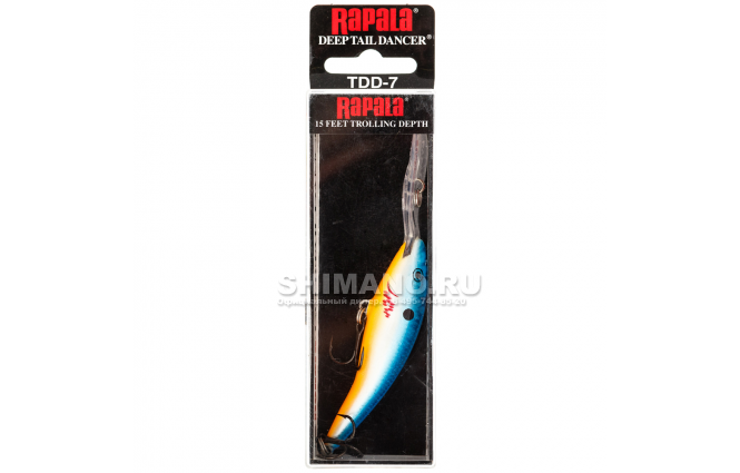 Воблер Rapala Tail Dancer Deep TDD11-OBFL фото №2