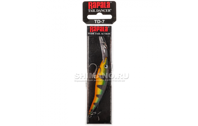 Воблер RAPALA TAIL DANCER TD07-P фото №2