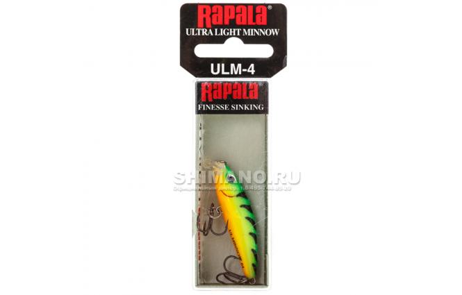 Воблер Rapala Ultra Light Minnow ULM06-FT фото №2